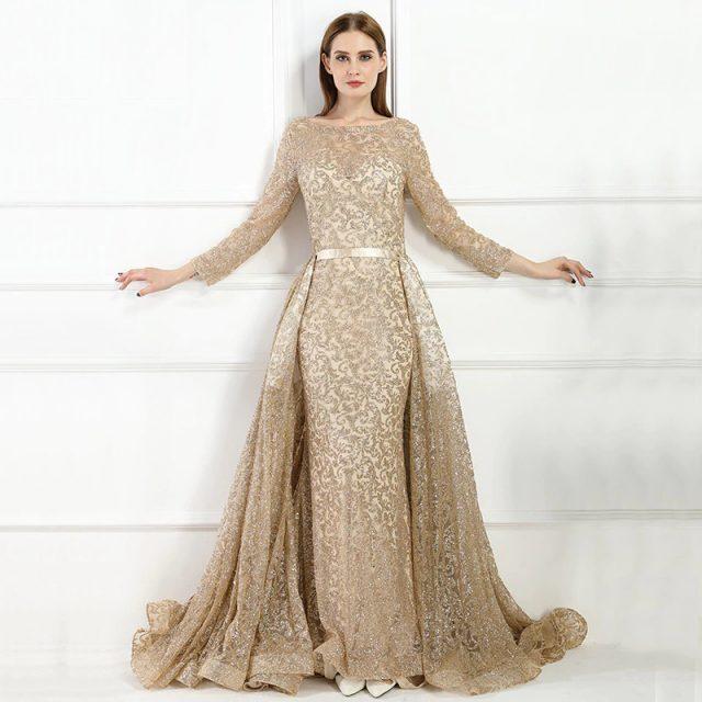 50f6add80a fleepmart fashion 2019 Mermaid Luxury Evening Dress Long Sleeves ...