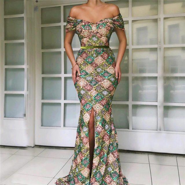 fda247067c Fleepmart fashion 2019 Latest Design Off Shoulder Sexy Evening ...
